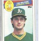 (B-1) 1985 Topps #281: Tim Belcher - Rookie - #1 draft pick series