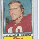 (B-1) 1974 Topps Football #19: Ken Willard