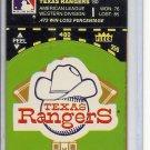 (B-1) 1982 Fleer Sticker: Texas Rangers Logo