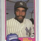 (B-1) 1981 Topps Traded #855: Dave Winfield