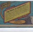 (B-1) 1980 Star Wars card #91: Prize of Boba Fett - Factory Error- Off-Set back image