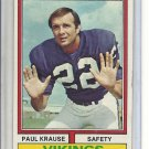 (B-1) 1974 Topps Football #82: Paul Krause