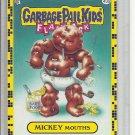 (B-1) 2011 Garbage Pail Kids Flashback #43a: Mickey Mouths - Yellow Border