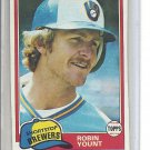 (B-1) 1981 Topps #515: Robin Yount