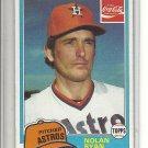 (B-1) 1981 Coca-Cola / Topps #9: Nolan Ryan