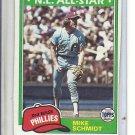 (B-1) 1981 Topps #540: Mike Schmidt - NL All-Star