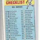 (B-1) 1966 Topps #444: Checklist 6th Series - Marked - Off-Set cut