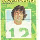 (B-2) 1971 Topps Football Pin-Ups #4: Joe Namath - Mini-Poster - worn