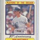(B-2) 1990 Fleer #626: Don Mattingly - Player of the Decade