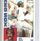 (B-2) 1984 Topps #550: Jim Rice