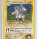 (B-2) 2000 Pokemon card #2/132: Brock's Rhydon - hologram