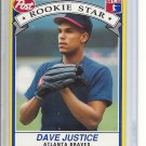 (B-2) 1991 Post Cereal #1 of 30: Dave Justice - Rookie
