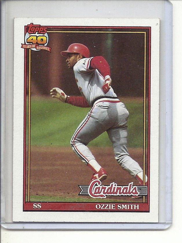 (B-2) 1991 Topps #130: Ozzie Smith
