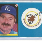 (B-2) 1983 Fleer Baseball Stickers uncut duo: #100 Quisenberry & Padres Logo