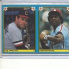 (B-2) 1983 Fleer Baseball Stickers uncut duo: #178 Matthews & #242 Hargrove