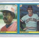 (B-2) 1983 Fleer Baseball Stickers uncut duo: #244 Sorenson & #264 Dawson