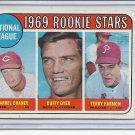 (B-2) 1969 Topps #624: NL Rookie Stars - Chaney, Dyer, Harmon