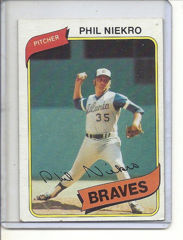 (B-2) 1980 Topps #245 : Phil Niekro