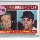(B-2) 1969 Topps #49a: Steve Jones / E. Rodriguez - Rookie Stars - Error Variant