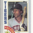 (B-2) 1984 Topps #389: Lou Whitaker - AL All-Star - Factory Error - Off-Set Cut
