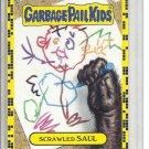 (B-2) 2011 Garbage Pail Kids LOST #67a: Scrawled Saul - Yellow Border