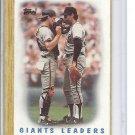(B-3) 1987 Topps #231: Giants Leaders - Factory Error - off-Set Cut