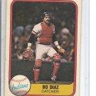 (B-3) 1981 Fleer #404: Bo Diaz