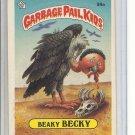 (B-3) 1986 Garbage Pail Kids sticker card #99a: Beaky Becky
