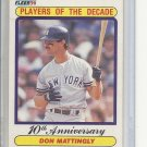 (B-3) 1990 Fleer #626: Don Mattingly - Player of the Decade