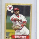 (B-3) 2012 Topps Mini #TM-31: Brandon Phillips - 1987 series