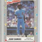(B-3) 1988 Fleer Star Stickers #110: Juan Samuel