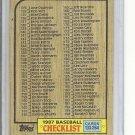 (B-3) 1987 Topps #264: Checklist 133-264 - Clean / Unmarked