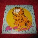 "(MX-1) vintage 1978 3"" x 3"" Garfiled Sticker - "" Why Me Lord? """