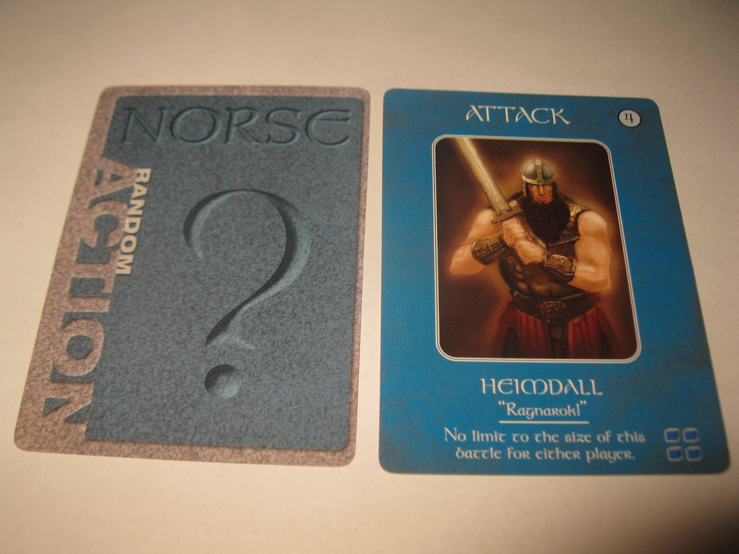 2003 Age of Mythology Board Game Piece: Norse Random Card: Attack - Heimdall
