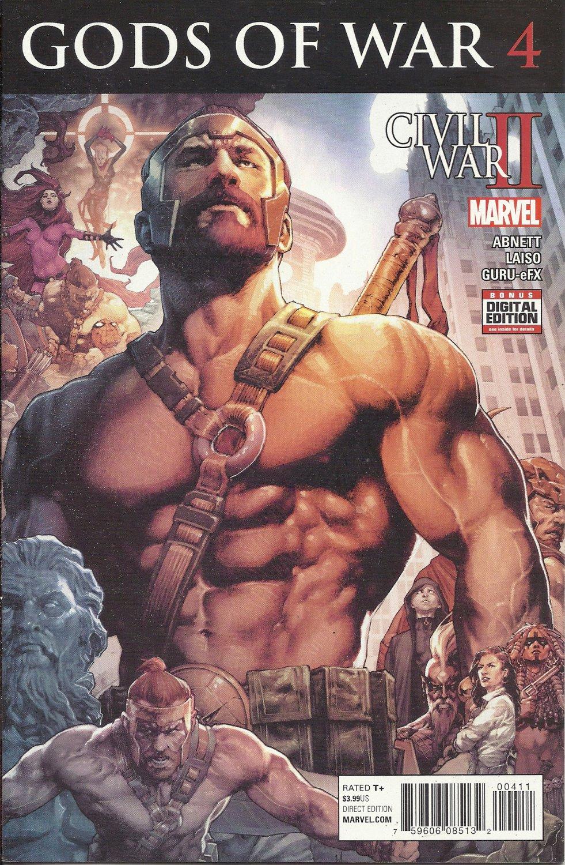 (CB-5) 2016 Marvel Comic Book: Civil War II, Gods of War #4
