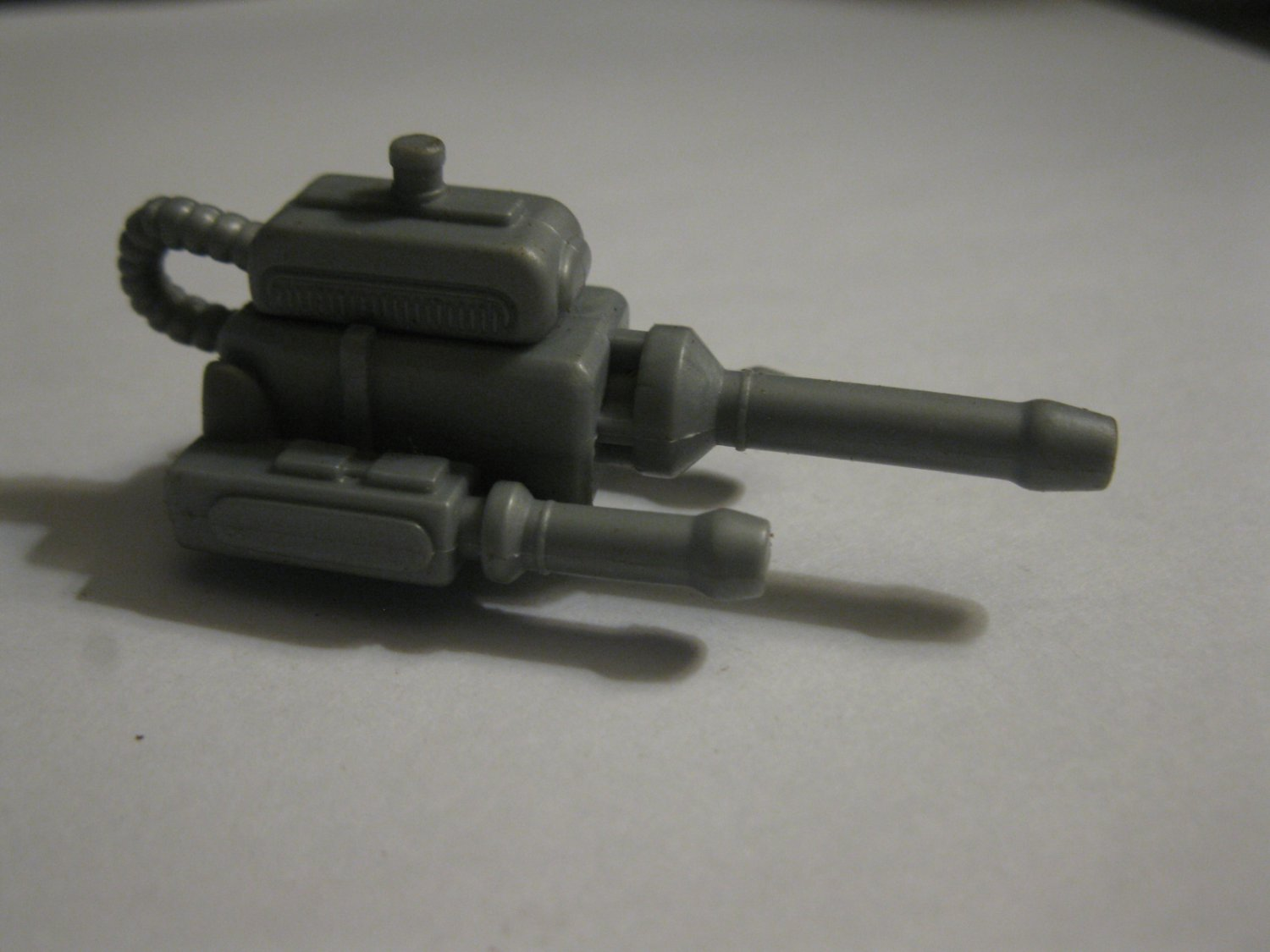 """Action Figure Weapon / Accessory - Vintage unknown gray Vehicle Laser Cannon Attachment - 2"""" long"""