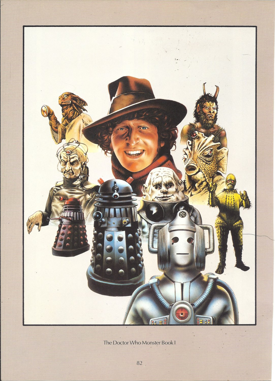 """Chris Achilleos 1 sided Book Page Print - Doctor Who Monster Book I - 11.5"""" x 8.25"""""""