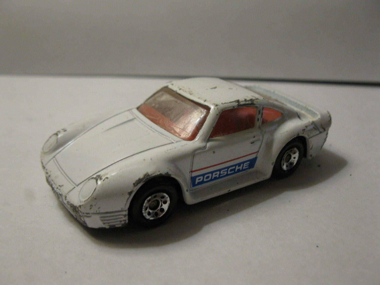 1986 Matchbox car: White Porsche 959