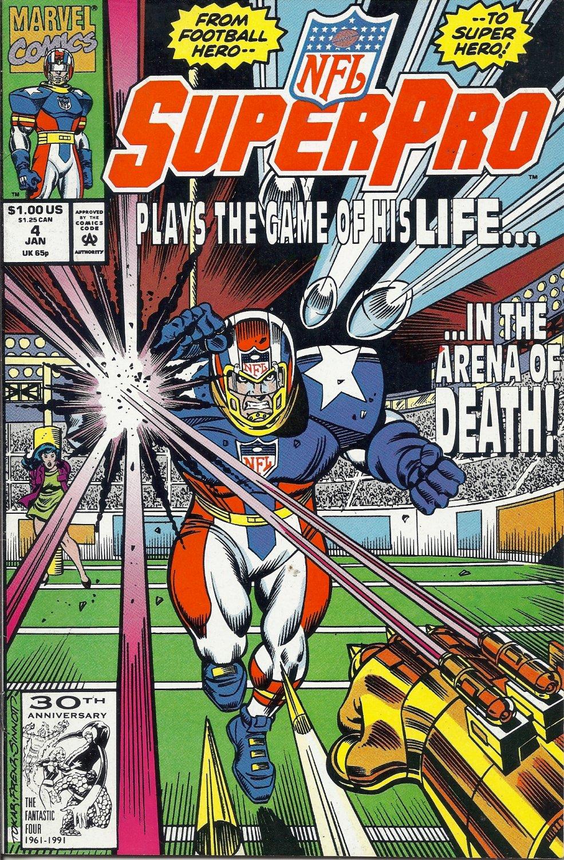 (CB-6) 1992 Marvel Comic Book: NFL Superpro #4