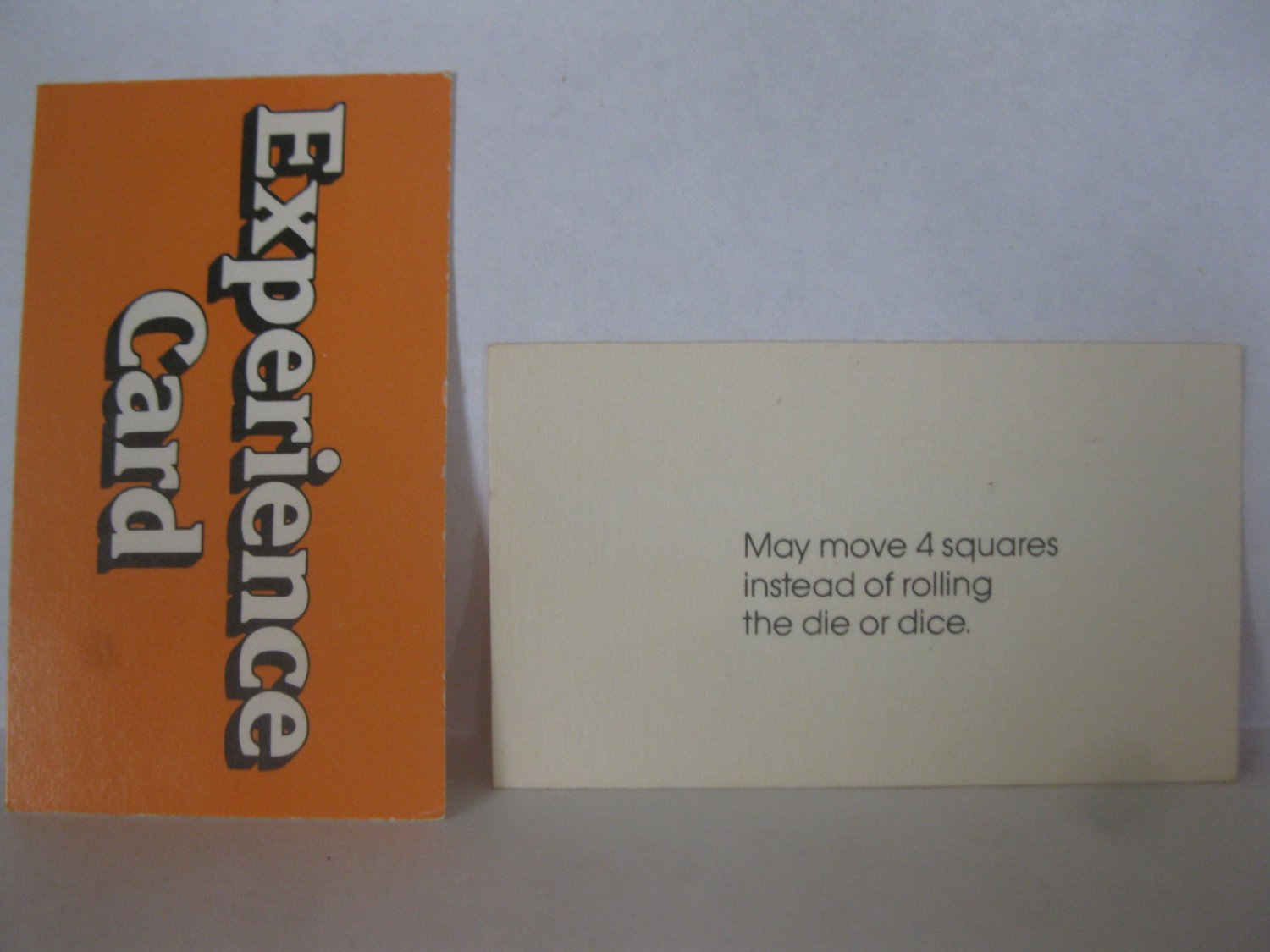 1979 Careers Board Game Piece: Experience Card - Move 4 Squares