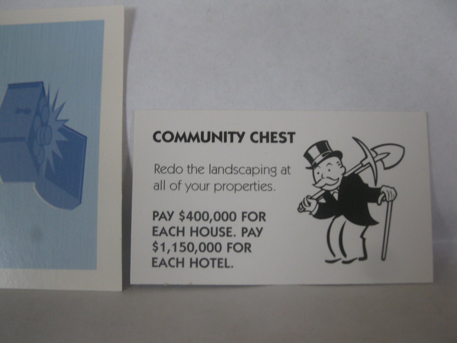 2006 Monopoly - Here & Now Board Game Piece: Community Chest Card - Redo Landscaping