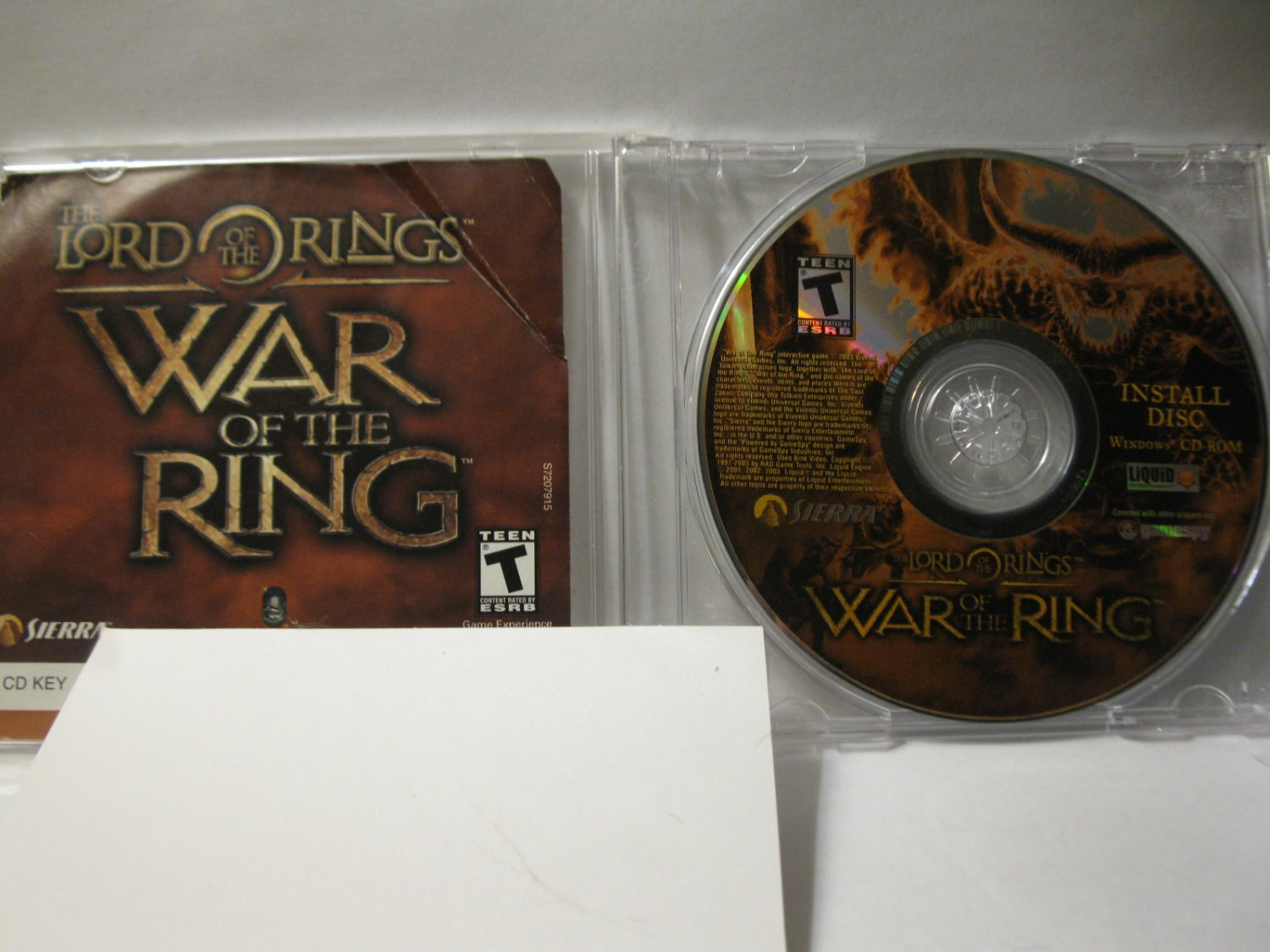 PC video game: The Lord of the Rings - War of the Ring w/ CD Key