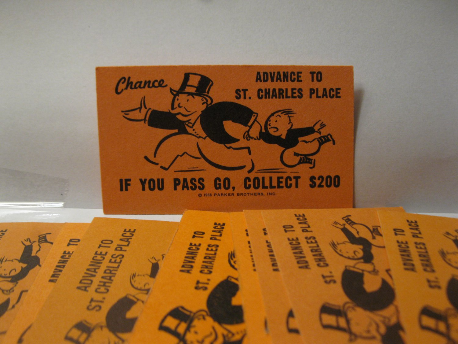 Board Game Piece: Monopoly - random Advance to St. Charles Chance Card