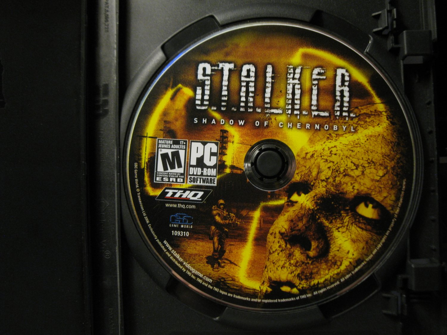 2006 PC Video Game: Stalker - Shadow of Chernobyl, disc only