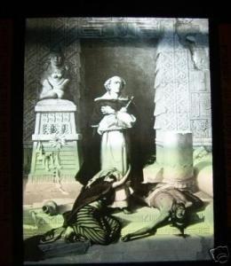 Old Magic Lantern Glass Slide Father Bartolome Portrait