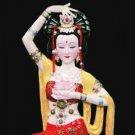 Tianjin Clay Figure Zhang handicrafts ladies flower