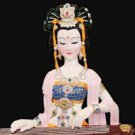 Tianjin Clay Figure Zhang handicrafts ladies zither