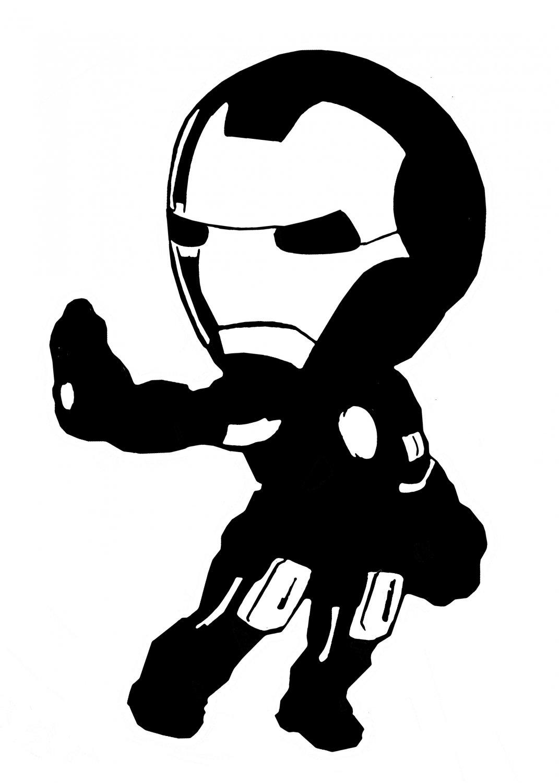 Avengers Cartoon Ironman 6 Quot Black Vinyl Decal Sticker