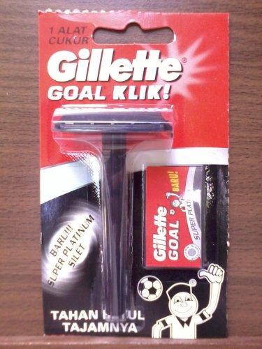 GILLETTE Goal Klik Safety Razor + 7 GILLETTE Double Edge Razor Blades