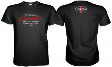 CIGARETTE RACING TEAM BLACK TSHIRT WORLD CHAMPION Sz. S-3XL